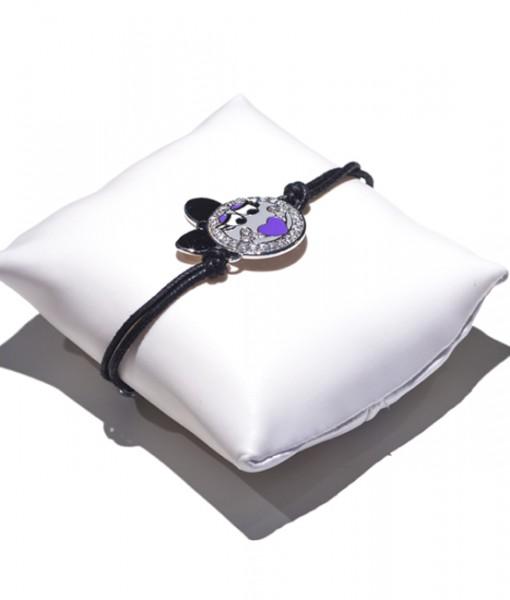 Gioielleria Gaggioli bini-bracciale-cordino-motivo-centrale-argento
