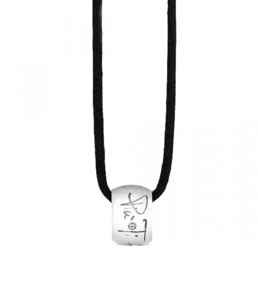 Gioielleria Gaggioli bliss-collana-cordino-nero-ciondolo-argento-13963