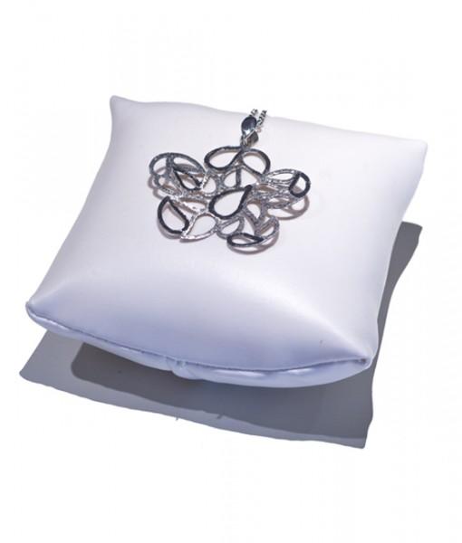 Gioielleria Gaggioli collana-argento-pendente-fiore-lucido-satinato