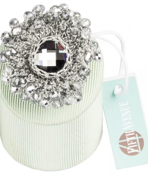anello Fifthavenue argento, lurex e pietre dure