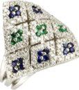 anello salvini oro zaffiri e smeraldi